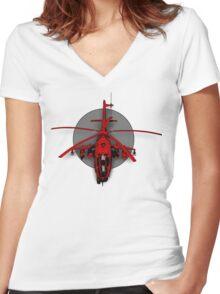 GunShip Women's Fitted V-Neck T-Shirt