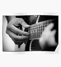 Guitare portrait Poster