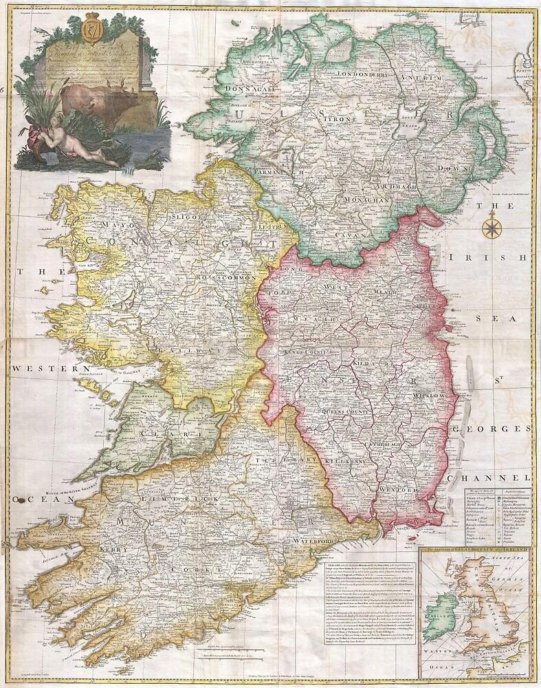 Vintage Map of Ireland (1794) by BravuraMedia