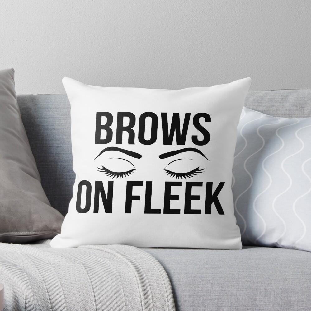 Brows On Fleek (Black) Throw Pillow