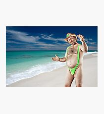 Mr November - Welcome to Paradise. Photographic Print