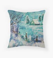Snow scene 2 Throw Pillow
