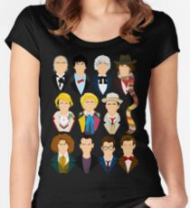 The Eleven Doctors  Women's Fitted Scoop T-Shirt