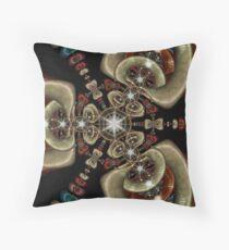 Ceramic Beadwork Throw Pillow