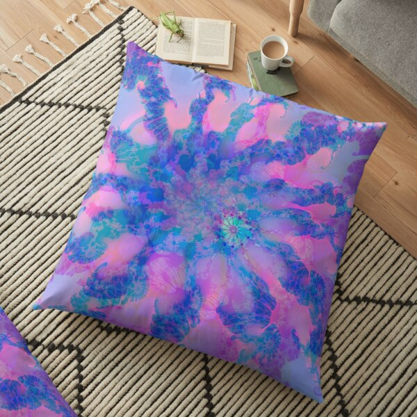 Fractalize storm clouds of flower petals Floor Pillow