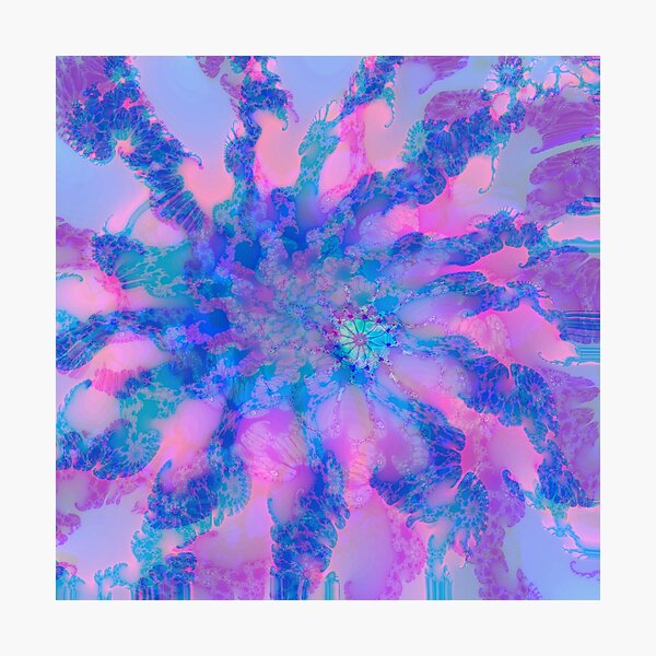 Fractalize storm clouds of flower petals Photographic Print