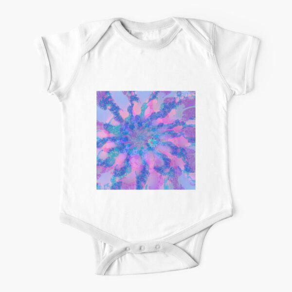Fractalize storm clouds of flower petals Short Sleeve Baby One-Piece