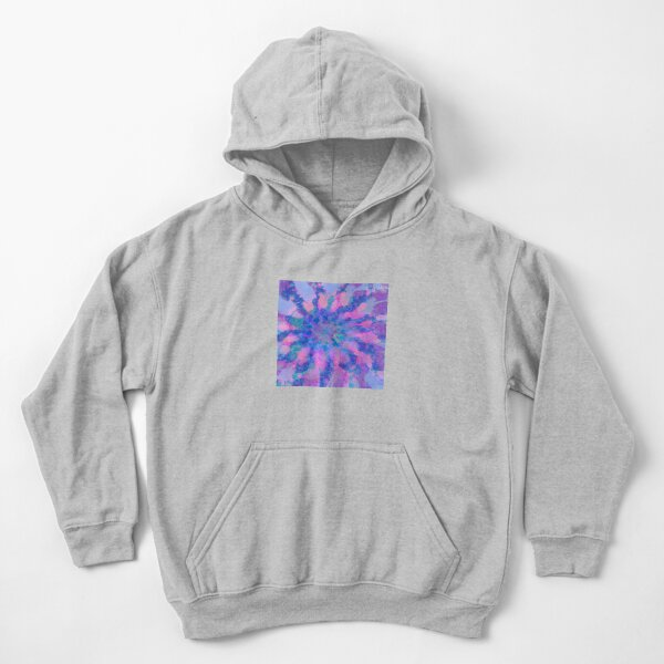 Fractalize storm clouds of flower petals Kids Pullover Hoodie