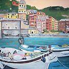 Vernazza Harbor, Italy by Teresa Dominici