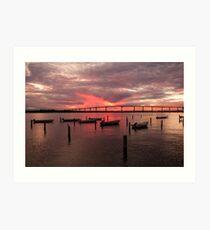"""""""Solomons Sunset"""" - sunset in Solomons, Maryland Art Print"""