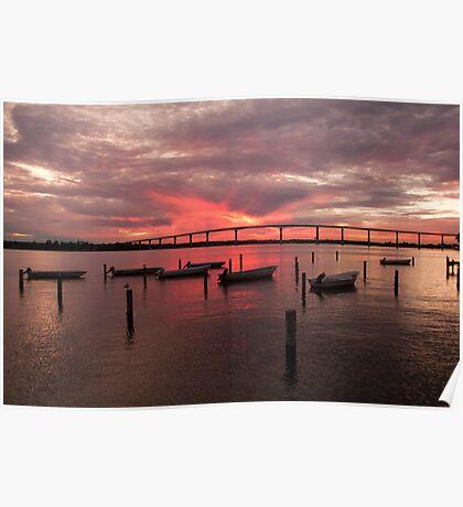"""""""Solomons Sunset"""" - sunset in Solomons, Maryland Poster"""