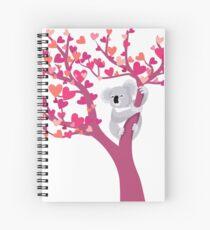 Cuaderno de espiral Love Koala en el árbol