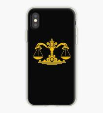 Zodiac Sign Libra Gold iPhone Case