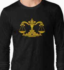 Zodiac Sign Libra Gold Long Sleeve T-Shirt