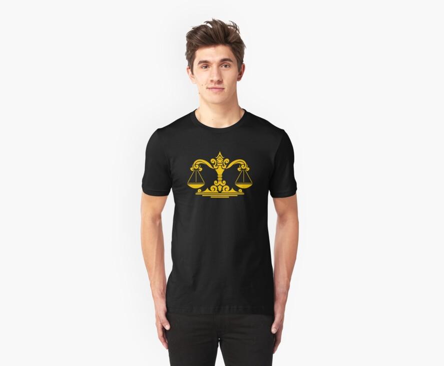 Zodiac Sign Libra Gold by elangkarosingo
