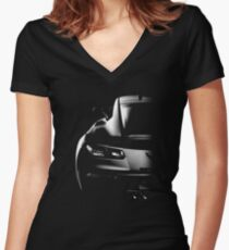 Chevrolet Corvette Z06 Women's Fitted V-Neck T-Shirt