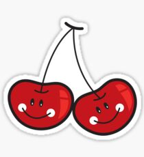 Happy Twins Cute Cheeky Cherries Sticker