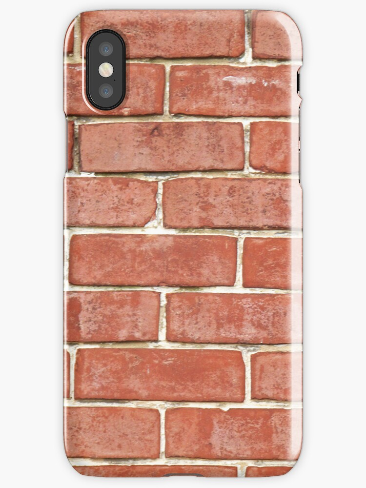 RED BRICK - IPHONE CASE by Marcia Rubin