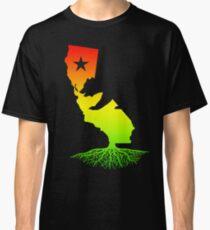Camiseta clásica California Roots (colores rasta surfer)
