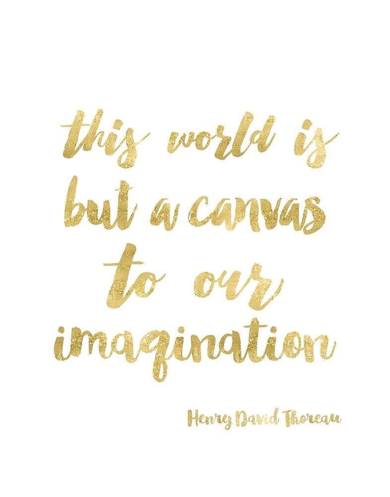Henry David Thoreau Golden by Pranatheory
