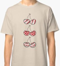 Summer Retro Pattern Cute Cheeky Cherries Trio Classic T-Shirt