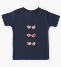 Summer Retro Pattern Cute Cheeky Cherries Trio Kids Clothes