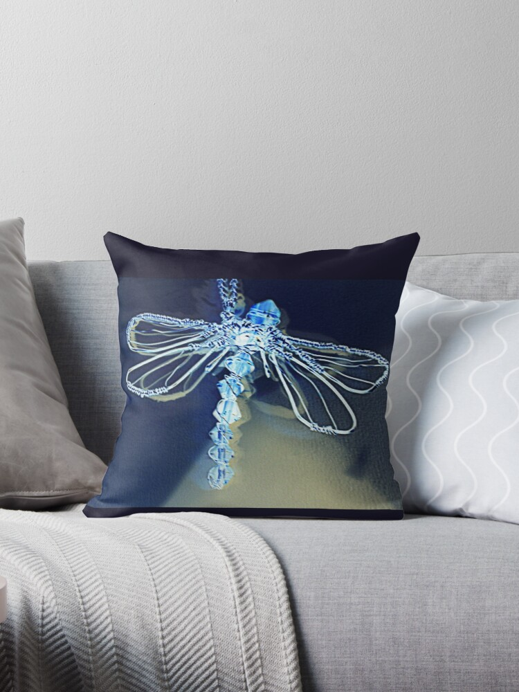 Electric Blue Dragonfly  by NicoleJadeArt