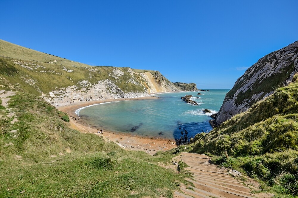 View over the beach at Durdle Door, Dorset, UK by Luke Farmer