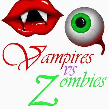 Vampires vs Zombies by Starzraven