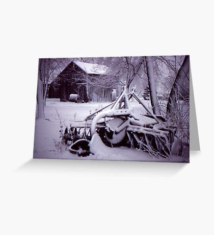 Vintage Farm Plow Greeting Card