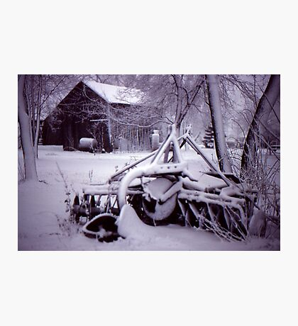 Vintage Farm Plow Photographic Print