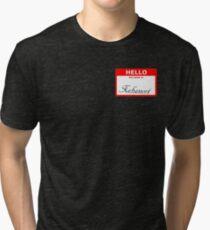 Xehanort nametag Tri-blend T-Shirt