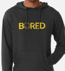 Sherlock Bored Smiley Print Lightweight Hoodie