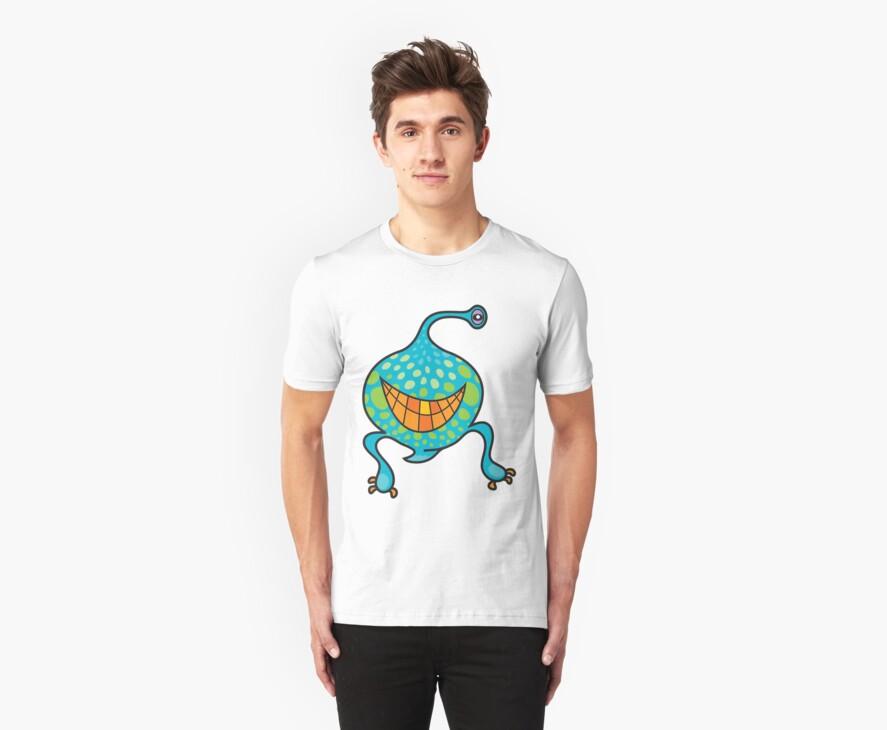 Mr. Blob Cartoon Green Monster by fatfatin