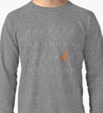 One Orange Giraffe in the Herd Lightweight Sweatshirt