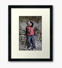 Shy guy Framed Print