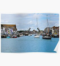 The drawbridge at Weymouth harbour, Dorset, UK Poster