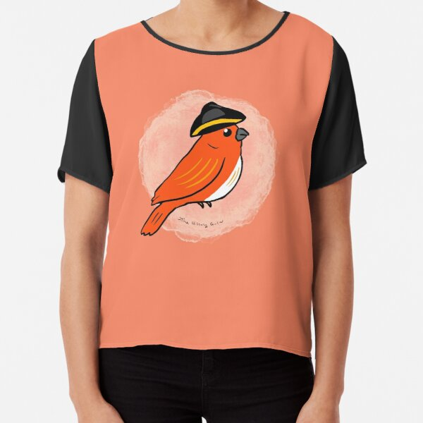 History Bird Chiffon Top