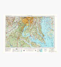 USGS Topo Map District of Columbia DC Washington 707671 1957 250000 Photographic Print