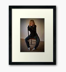 Kelly 2  Venus in Bluejeans  Framed Print