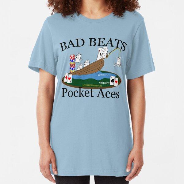 Bad Beats Fisherman's Club Dark Text Slim Fit T-Shirt