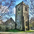 Heptonstall Church Ruins. by Lilian Marshall