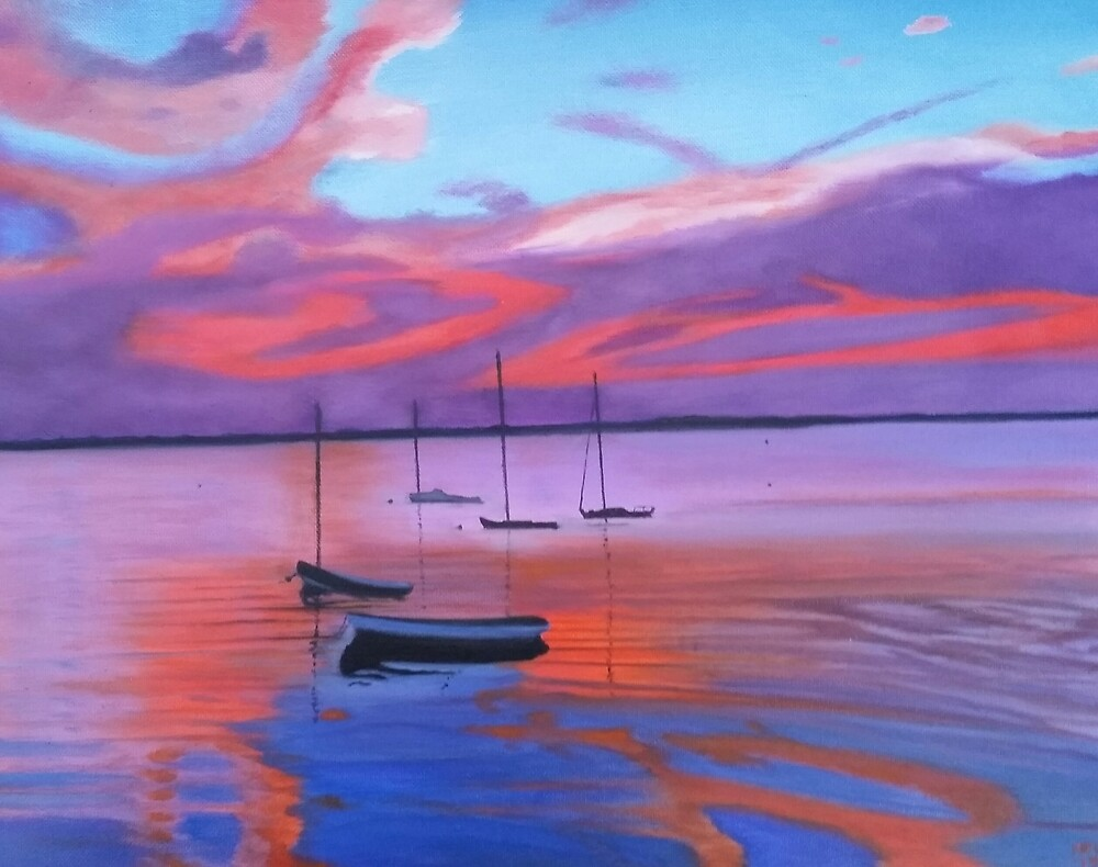 Sunset In the Mooring Field by Ken Pratt