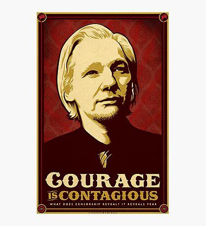 Julian Assange Courage Is Contagious Photographic Print