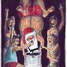 Santas Keg-Stand Christmas Card! by weirdpuckett