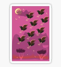 Birds are lending Sticker