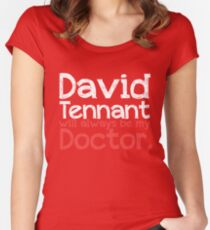 David Tennant will always be my Doctor - RED Women's Fitted Scoop T-Shirt