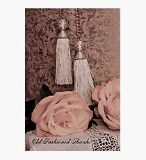 Old fashioned thanks on card. Photographic Print