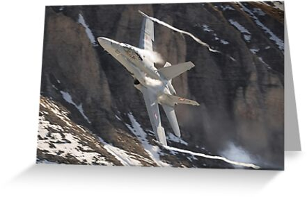 F/A-18 Hornet J-5023  by Ted Lansing