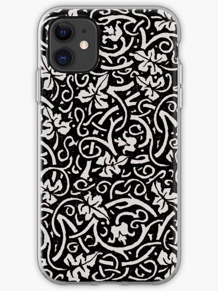 Vintage Floral Grapevine Pattern Wallpaper Design Victorian Iphone Case By Antiqueart